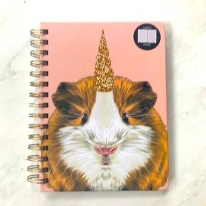 Guinea Pig Unicorn Spiral Notebook NWT Hardcover